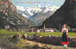 "1037"" VALLE D AOSTA -GRESSONEY ST. JEAN M 1385"" ANIMATA CARTOL ORIGINALE 1929 - Italia"