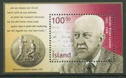 Island 2002 100. Geburtstag Halldor Laxness Block 30 Postfrisch (C90084) - Blocs-feuillets