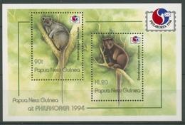 Papua Neuguinea 1994 PHILAKOREA Baumkänguruhs Block 6 Postfrisch (C27810) - Papua-Neuguinea