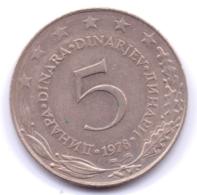 YUGOSLAVIA 1978: 5 Dinara, KM 58, Discoloration - Jugoslawien