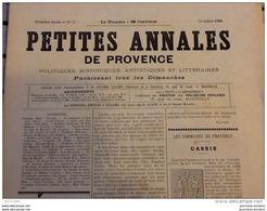 1894 CASSIS ( PROVENCE ) / VINCENT DE PAUL AU BAGNE DE MARSEILLE / AUDIER MASSILLON / GROTTE / LETTRE D'UN PROVENÇAL - Vieux Papiers