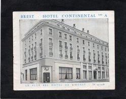 BREST - HOTEL CONTINENTAL ***A - Le Plus Bel Hotel De L'Ouest - - Folletos Turísticos
