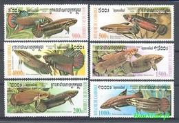 Cambodia 2000 Mi 2068-2073 MNH ( ZS8 CMB2068-2073 ) - Peces