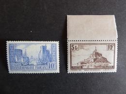 FRANCE  La Rochelle Et Mont Saint Michel  Neuf Sans Charnière Cote 135 € - France