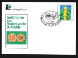 Germany Ganzsache 2000 Europa CEPT W/print Abschied Von Der DM 2001  - Used (G94-52) - Sobres Privados - Usados