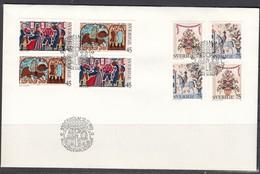 Schweden 1973.  Folklore Paintings . FDC - Briefe U. Dokumente