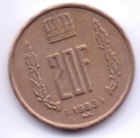 LUXEMBOURG 1983: 20 Francs, KM 58 - Luxembourg