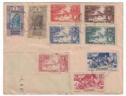 BEL AFFRANCHISSEMENT MULTIPLE Avec TIMBRES De GUINÉE Sur LETTRE De CONAKRY Pour AURILLAC CANTAL FRANCE Dt COIN DATÉ - Französisch-Guinea (1892-1944)