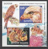 2004 Bulgaria Ecology Birds Of Prey Fish Souvenir Sheet  MNH - Nuevos