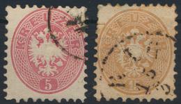 Österreich 26+28 Doppeladler Gestempelt - 1850-1918 Imperium