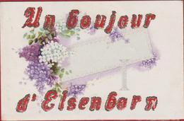 CPA Un Bonjour D'ElsenBorn CPA Carte Fantaisie Fantasie RARE (En Bon état) - Elsenborn (camp)