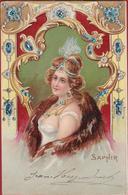 Jolie Carte Bijoux Jewelry Saphir Gemstone Gems Saphire Safier Belle Fille Fashion Mode - Fashion