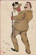CPA Illustrator Illustrateur A Identifier Jugendstil 1905 Cartoon Caricature - Illustrateurs & Photographes