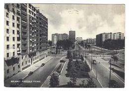 3196 - MILANO PIAZZALE FIUME ANIMATA 1952 - Milano