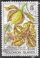 Solomon Islands   1989  Sc#634  $2 Orchid  Used   2016 Scott Value $3.25 - Solomon Islands (1978-...)