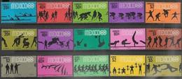 Mexico   1967-8   Sc#981-5, C328-31, 990-5  Olympics Sets   MLH   2016 Scott Value $16.50 - Mexico