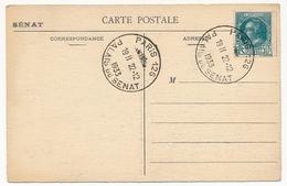 """FRANCE - CPA Affr. 30cA. Briand - Cachet """"Paris 126 Palais Du Sénat"""" 22/12/1933 - Non Voyagée - France"""