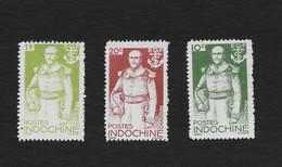 Indo-China 1944 Admiral Charner Set MNH Scott 256-8 - Indochina (1889-1945)