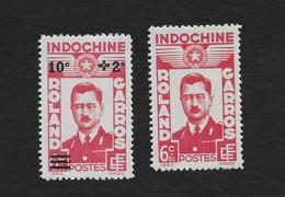 Indo-China 1943 Roland Garros + Surcharged MNH Scott B28-9 Aviation - Indochina (1889-1945)