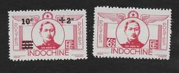Indo-China 1943 Do Huu Vi + Surcharged MNH Scott B26-7 Aviation - Indochina (1889-1945)