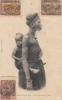 French Colonies Congo 1907: Post Card Brazzaville Femme Et Entfant - Congo - Brazzaville