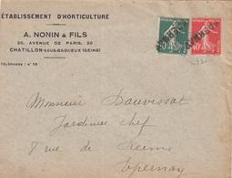 MARNE GRIFFE EPERNAY EN ARRIVEE SUR TIMBRE ENV OUVERTE SUR 3 COTES VIGNETTE AU VERSO 1927 CENTENAIRE HORTICULTURE - Marcophilie (Lettres)