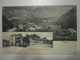 Suisse. Wiggen, Multivues. Vue Générale, Poste, Restaurant Rössli (8360) - LU Lucerne