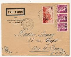 FRANCE REUNION - Env Affr Composé 1f CFA X3 + 5f CFA - 1951 - Réunion (1852-1975)