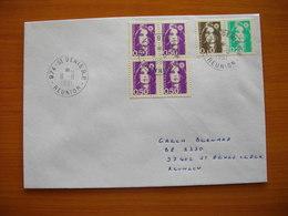 Réunion : Pli Affranchi Avec Marianne De Briat N° 2617A (paire 0,10 Et 0,20 F). Côte Maury : 20 Euros - Reunion Island (1852-1975)