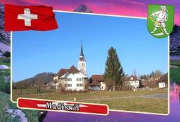 Postcard, REPRODUCTION, Municipalities Of Switzerland, Madiswil - Landkaarten