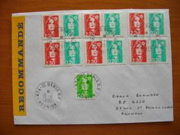 Réunion : Pli Recommandé Affranchi Avec Briat N° 2623A (paire 2,30 Et 0,20 C) X 6 Ex. Côte Maury : 192 Euros. - Reunion Island (1852-1975)