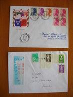 Réunion : Deux Plis Avec Oblitérations Rivière Des Pluies (1983) Et Griffe Linéaire De St Denis + Vignette - Reunion Island (1852-1975)
