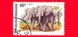 TOGO - 1974 - Elefante Africano (Loxodonta Africana) - 40 - Togo (1960-...)