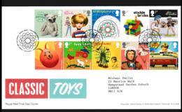 Great Britain FDC 2017 Classic Toys (LA4) - Poupées