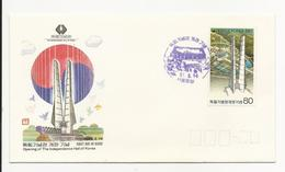 FDC Cover - South Korea - 1987 - Opening Of The Independence Hall Of Korea - Corea Del Sur
