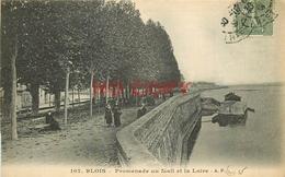 SL 41 BLOIS. Promenade Du Mail Et La Loire 1928 (possibilité D'avoir Aussi Cette Carte Vierge)... - Blois