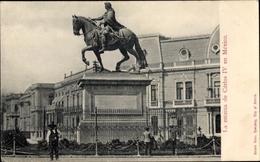 Cp Mexico City Mexiko Stadt, La Estatua De Carlos IV - Messico