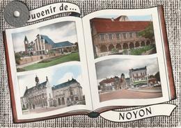 60 - Carte Postale Semi Moderne Dentelée  De  SOUVENIR DE NOYON   Multi Vues - Noyon