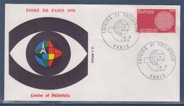 = Loisirs Et Philatélie Foire De Paris 10.5.1970 N° 1637 Europa - Marcophilie (Lettres)