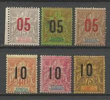 SENENEGAL SERIE COMPLETE N° 47 à 52 NEUF* AVEC OU TRACE DE  CHARNIERE / MH - Senegal (1887-1944)