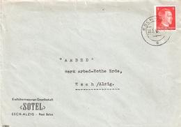 Brief: Sotel Esch-Alzig Nach ARBED Esch/Alzig - 1940-1944 Occupation Allemande