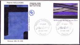 Frankreich France - Gemälde Von Pierre Soulages (MiNr: 2585) 1986 - FDC - FDC