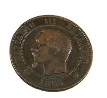 S/ 10 Centimes - Visite De Lille - Napoléon III - 23/24 Septembre 1853 - Bronze - TB + - - Francia