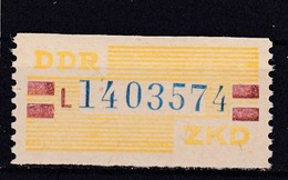 "DDR, Dienst: ZKD Nr. 25 L**, ""N"" (T 14235) - DDR"