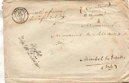 """""""Préfet/Dept De L'Isère"""",L.S.C. De Grenoble à Miribel Le 23/10/46. - Marcophilie (Lettres)"""