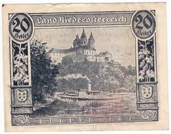 Österreich Austria Notgeld 20 HELLER FS671I NIEDEROSTERREICH /151M/ - Austria