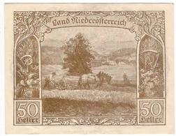 Österreich Austria Notgeld 50 HELLER FS671I NIEDEROSTERREICH /151M/ - Austria