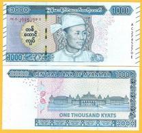 Myanmar 1000 Kyats P-new 2019 UNC Banknote - Myanmar