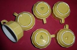 Lot De 6 Superbes Tasses à Café De Comptoir De Bistrot - Tasses
