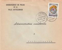 Lettre: Commissariat De Police Ettelbrück à Esch-Alzette - Briefe U. Dokumente